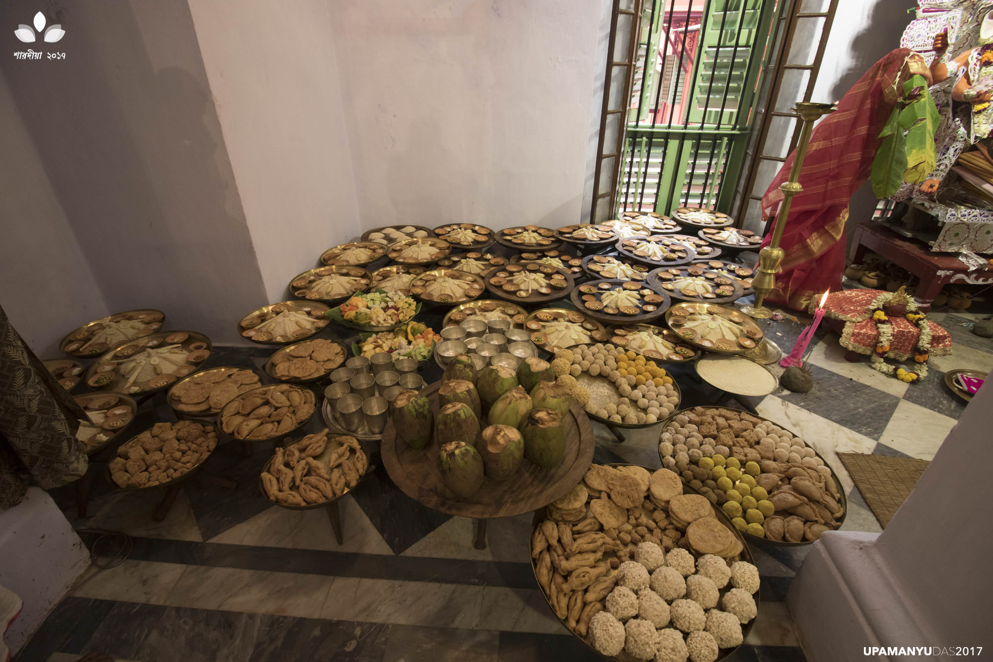 Laha Family's Puja, The Food for Offering